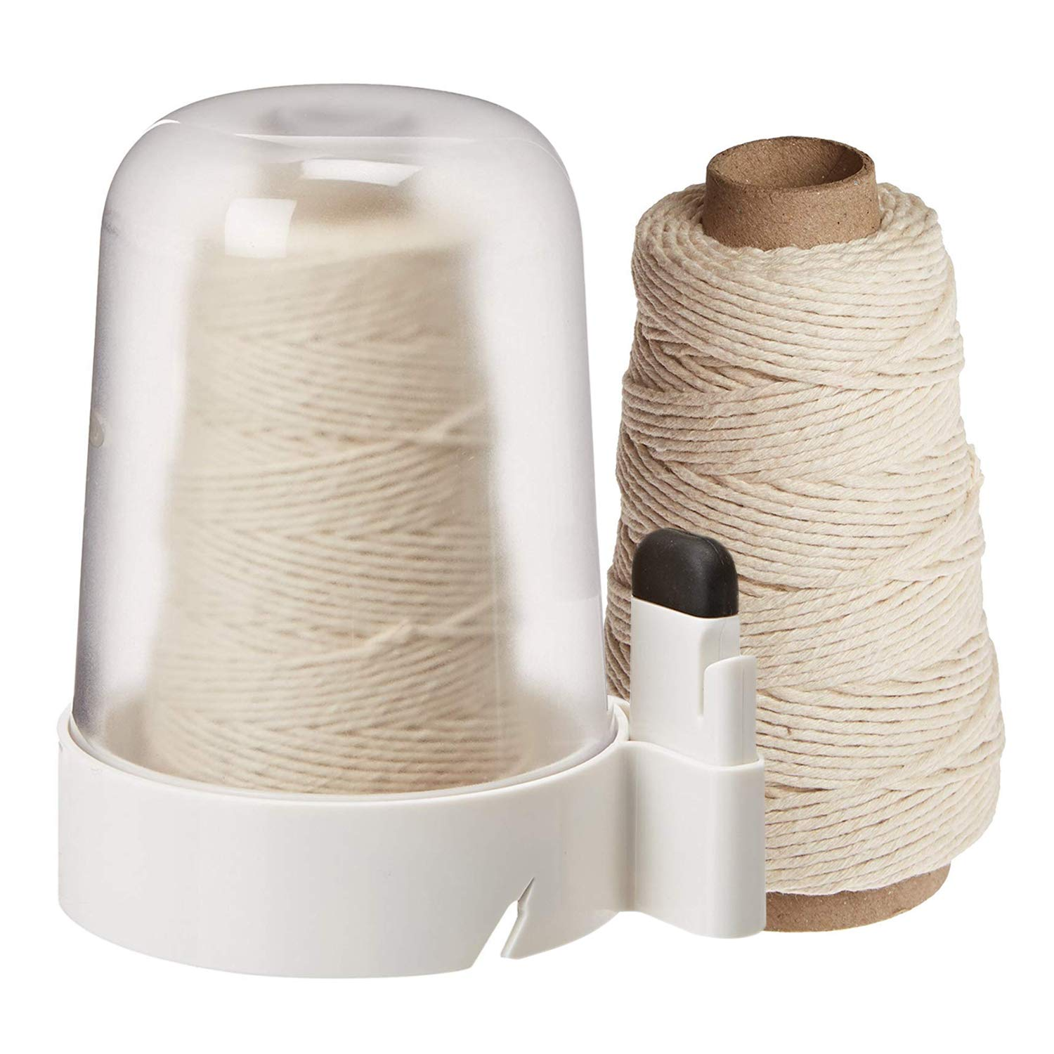 OXO Good Grips Twine Dispenser with Removable Cutter and 300-Feet Natural Cotton Twine Refill (600 ft Total) by OXO