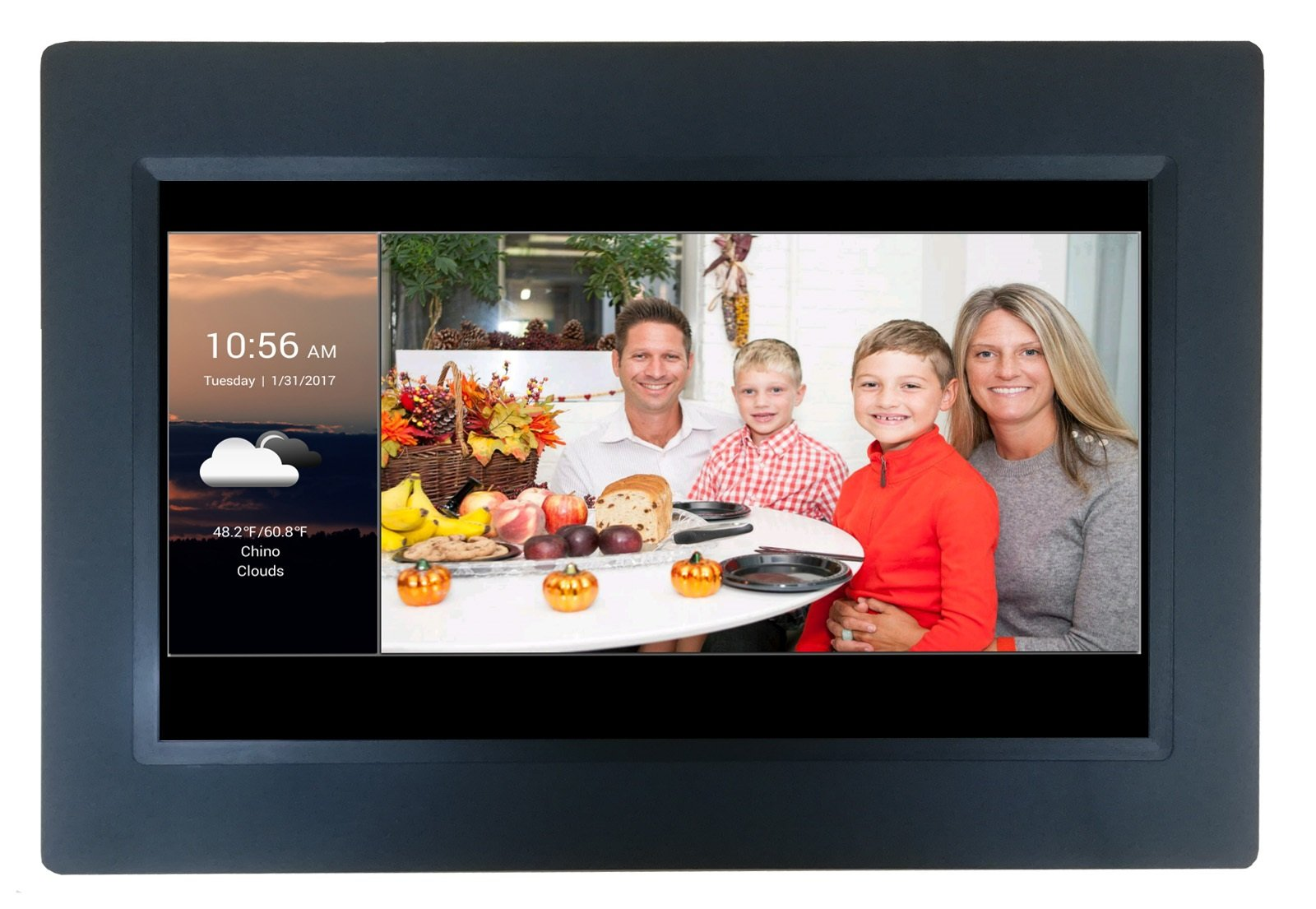 [LATEST UPDATE] 10'' Smart WiFi Cloud Digital Photo Frame with Touchscreen - includes 5GB free Cloud storage, iPhone & Android APP, Facebook, Dropbox, Real-time photos, Movie Playback by Sungale