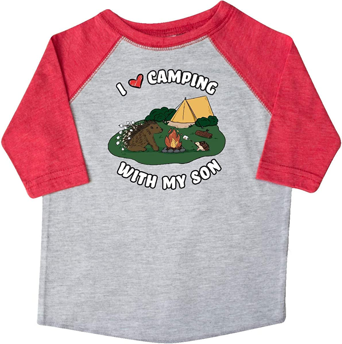 inktastic I Heart Camping with My Son with Hedgehog and Toddler T-Shirt