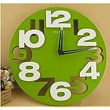 [笑顔一番] 全4色 クール で オシャレ な モダン アート 3D ウォール クロック 立体 デザイン の 壁掛け 時計 [A064-06]