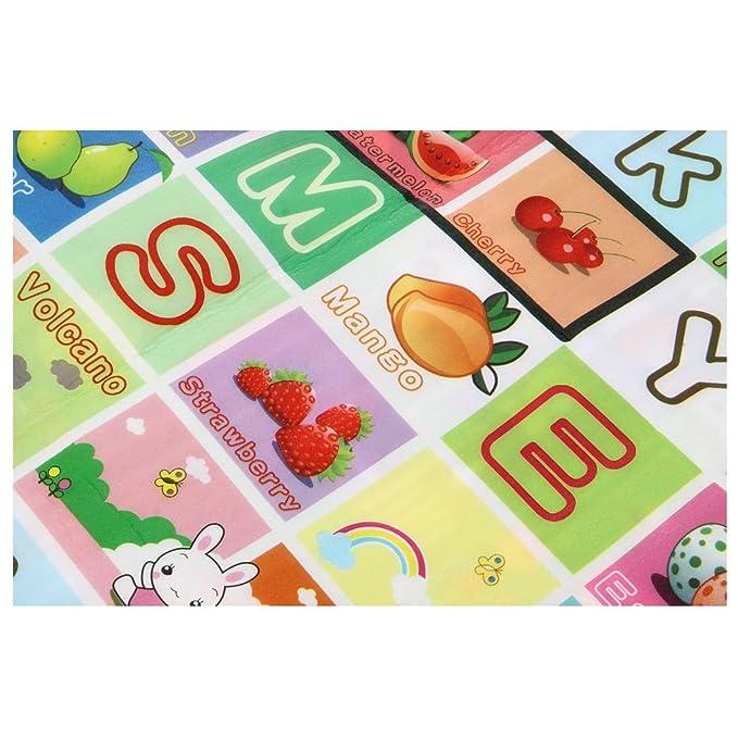 caracteres de fruta Monopolio REFURBISHHOUSE Estera de arrastre suave de nino bebe impermeable de doble lado Manta de picnic Estera de juego