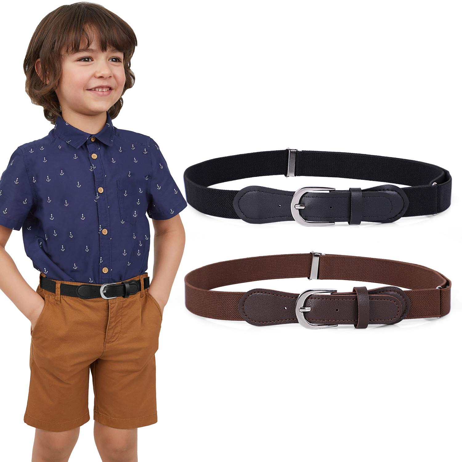 Kids Elastic Adjustable Belts, Stretch Belt for Boys and Girls