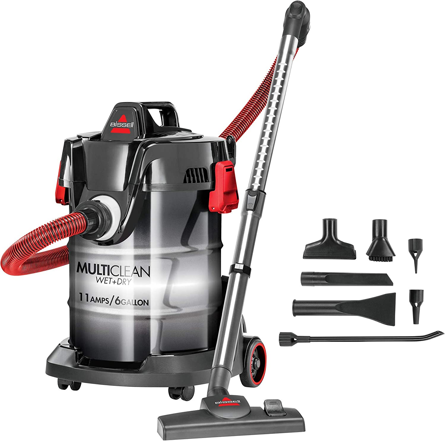 Bissell MultiClean Wet/Dry Garage and Auto Vacuum Cleaner, Red, 2035M (Renewed)
