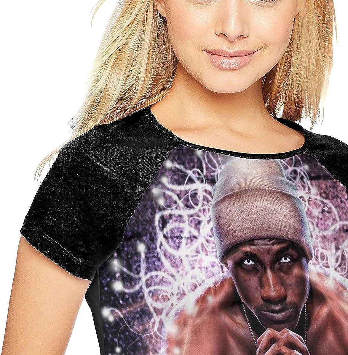 DaihAnle Hopsin Womens Individuality Fashion Baseball Short Sleeve Round Neck Print T-Shirt
