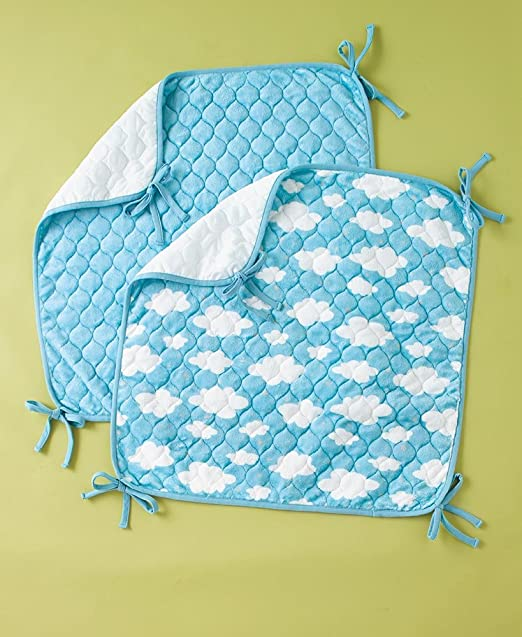 One Babies R Us Plush Sheet Saver Infant Bed Crib Protector Mat New