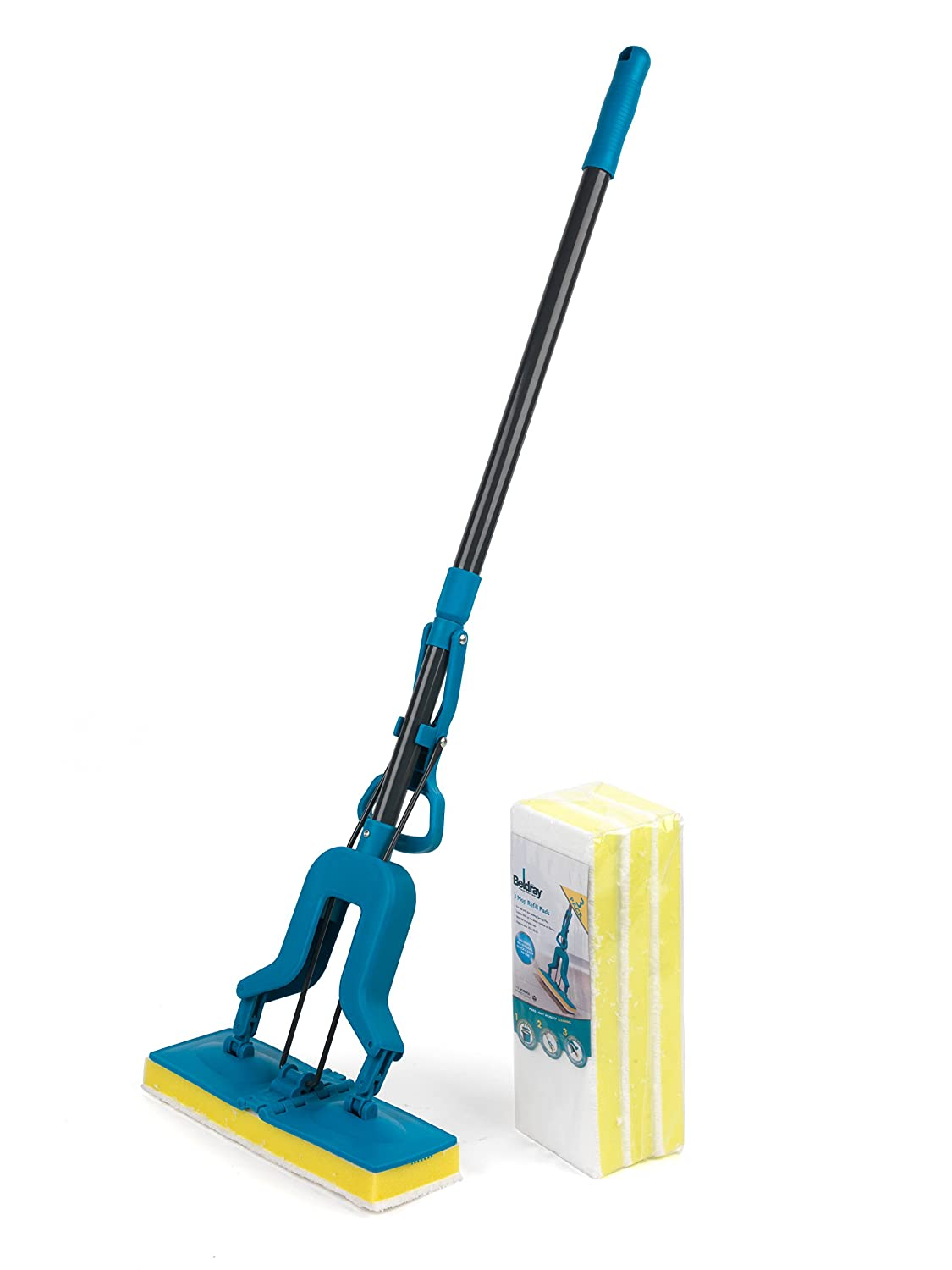 Beldray Telescopic Sponge Mop (Mop with Sponge Pack)