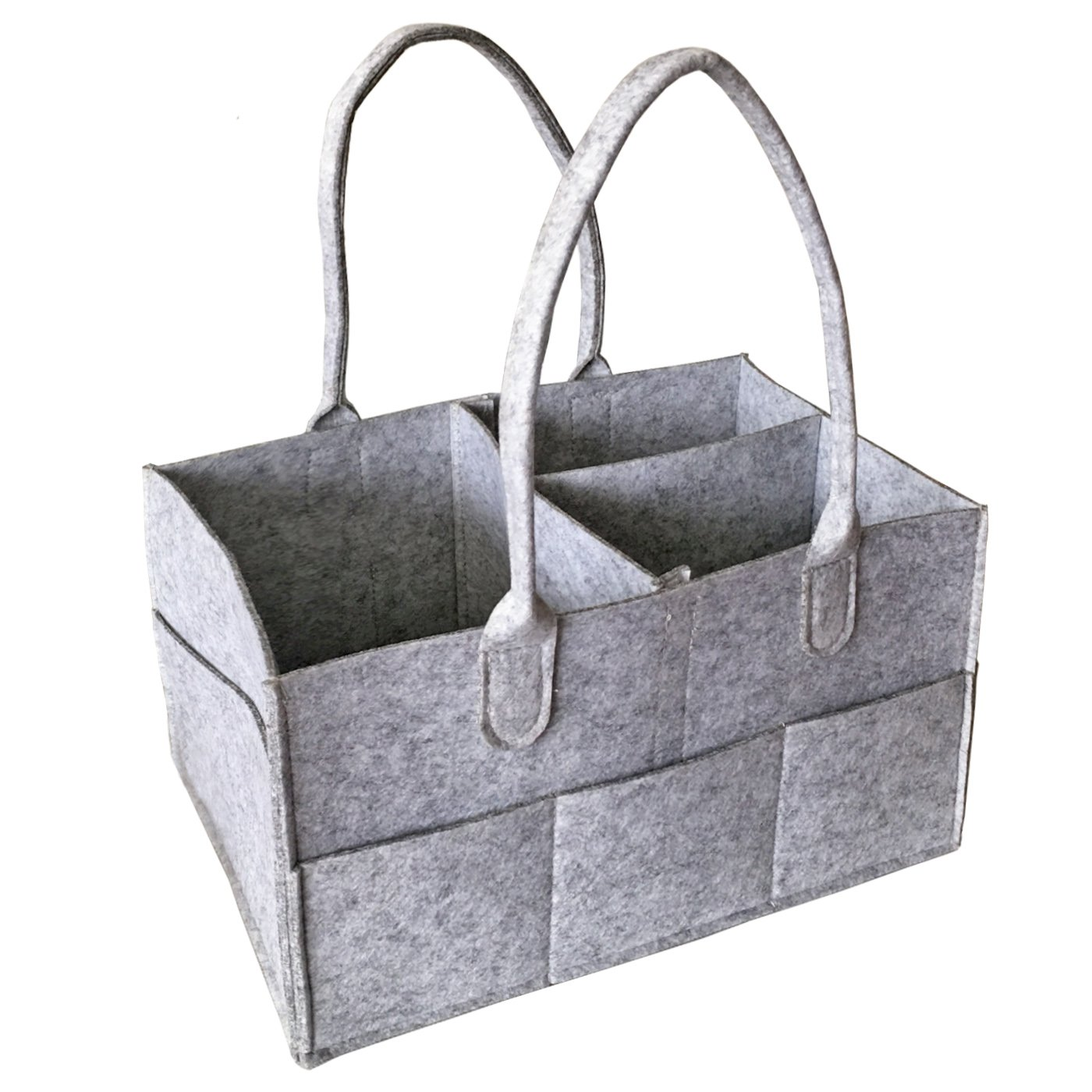 HyFanStr Felt Diaper Caddy Organiser Baby Wipes Bag Nursery Storage Bin Dark Grey