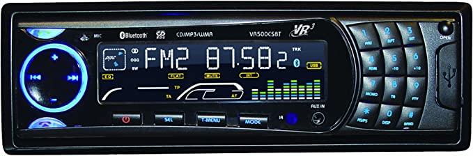 Roadmaster VR3 VR500CS-BT CD Car Stereo with Bluetooth: Automotive -  Amazon.com   Vr500cs Bt Wiring Harness      Amazon.com