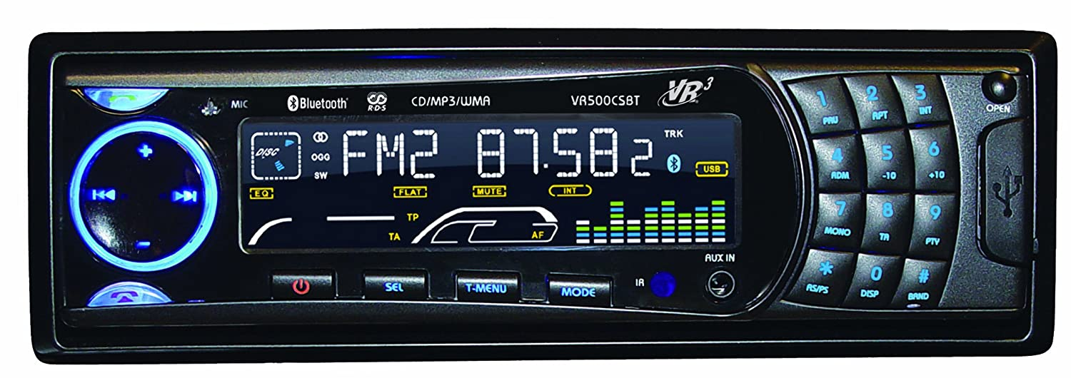 71ra1zzoOOL._SL1500_ amazon com vr3 vr500cs bt cd car stereo with bluetooth automotive vrcd400 sdu wiring harness at couponss.co