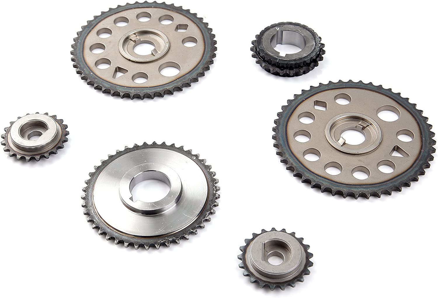 OCPTY 90537295 Timing Chain Kits with Crank Sprocket Tensioner fit for 2005 Chevrolet Cavalier 2011 2012 Buick Lacrosse 2003 2004 Oldsmobile Alero 2004 Pontiac Grand Am 2009 2010 Saturn Sky
