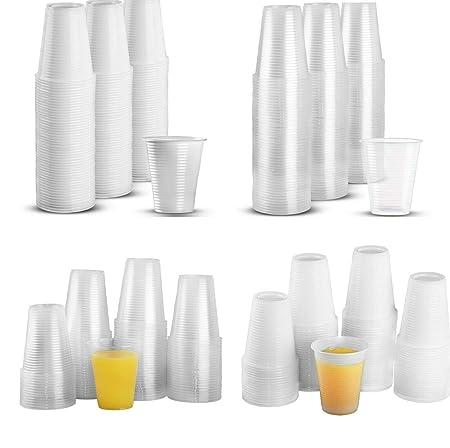 Desconocido 297 Vasos Desechables de plástico para Fiesta de ...