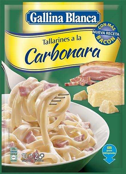 Gallina Blanca - Tallarines a la Carbonara, 143 g - [pack de 6]: Amazon.es: Alimentación y bebidas