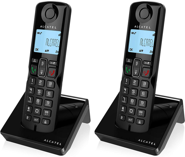 Teléfono Inalámbrico- Alcatel S250 Dúo, Color Negro