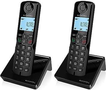 Alcatel S250 Dúo- Dos Teléfonos Inalámbricos, Color Negro: Alcatel: Amazon.es: Electrónica