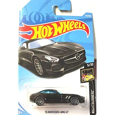 Hot Wheels 2020 50th Anniversary '15 Mercedes-AMG GT 142/365, Black: Toys & Games