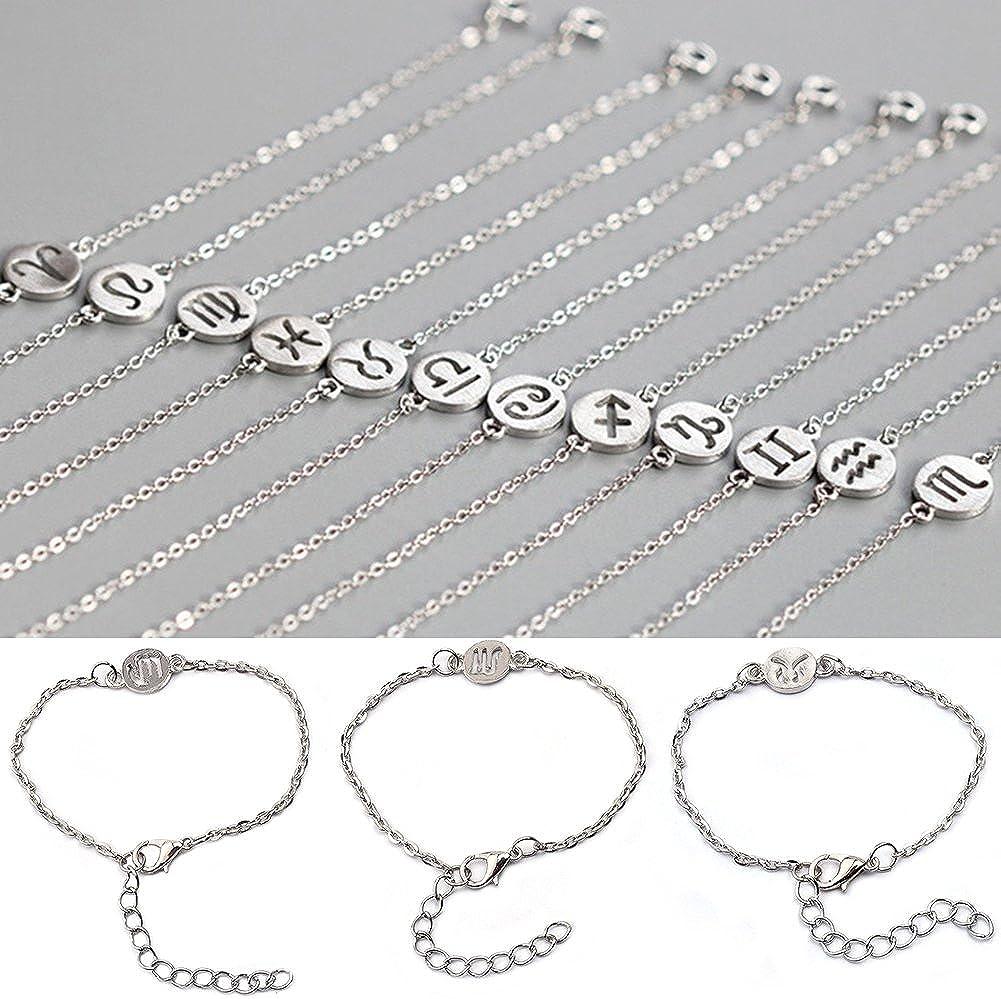 TRENTON 12 Constellations Bracelet Fashion Jewelry Cuff Zodiac Sign Special Bangle Pisces