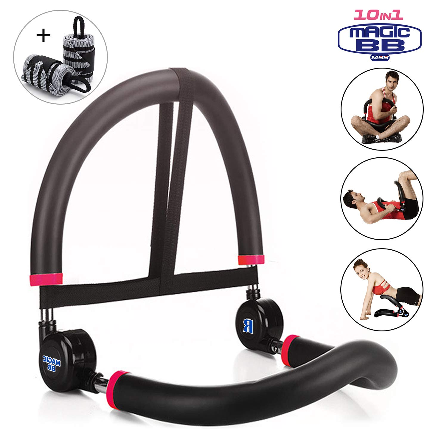 SYOSIN Abdominal Machine for Full Range of Motion Ab & Core Workouts, Home Fitness Equipment for Beginners (101-BK-WW)