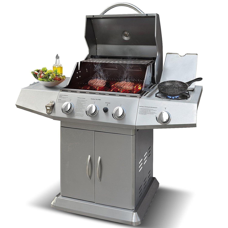 Broil-master - Barbacoa a gas BBQ para gril Calidad certificada por TÜV Rheinland: Amazon.es: Jardín