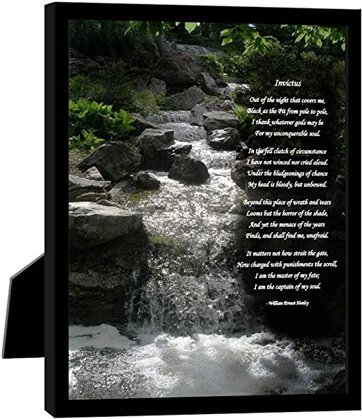 Invictus Famous Poem By William Ernest Henley I Am The Captain Of My Soul Framed Print