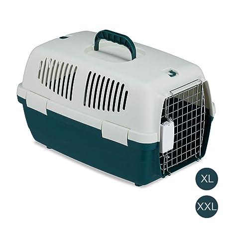 Relaxdays Transportín Perro, Gato o Conejo para Coche o Avión ...