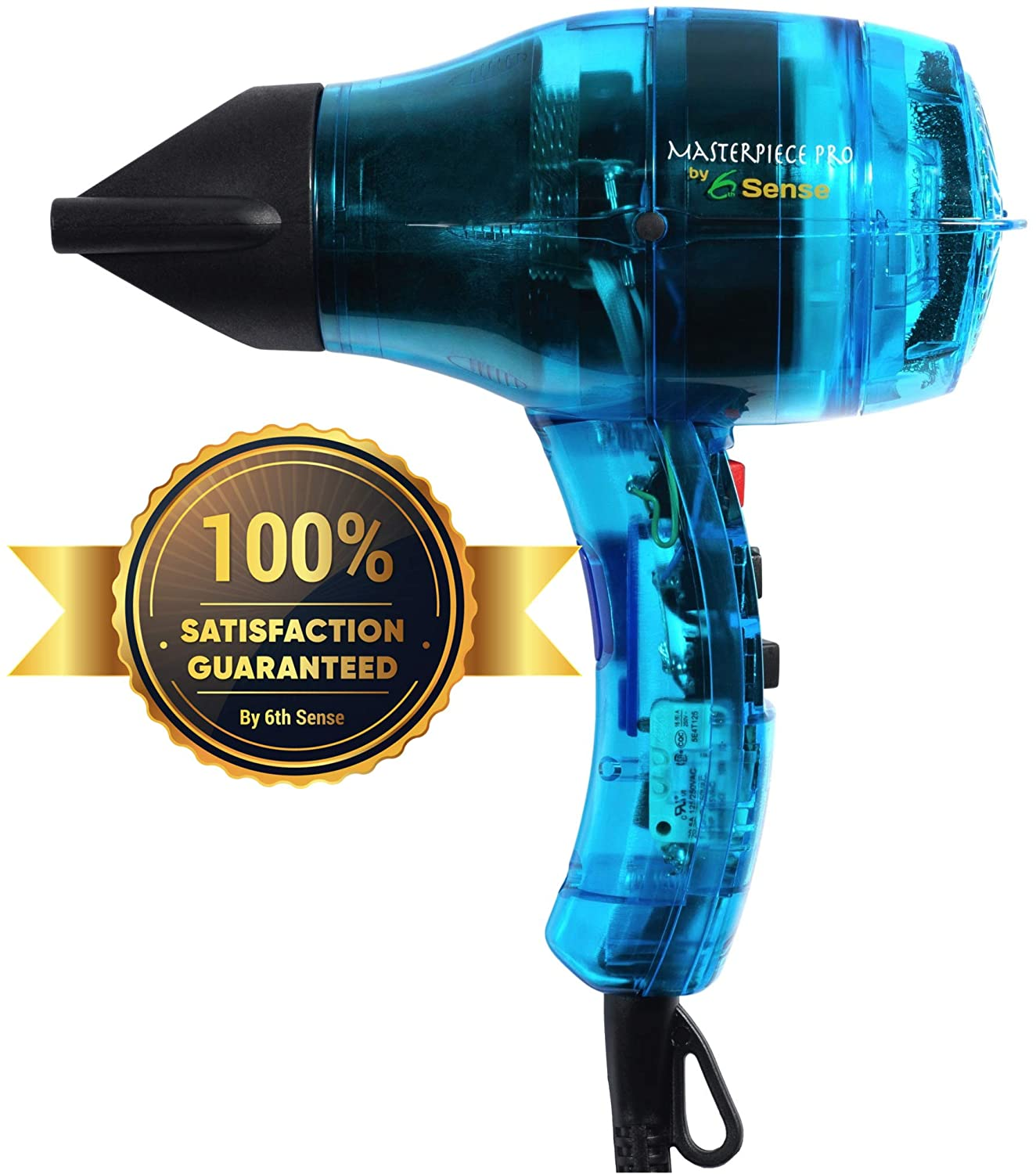 Professional Salon Ionic Hair Dryer Handcrafted in France for Europe s Finest Salons, Featherweight, Dual Ion Generator Function Builds Shine Volume 1600 Watts