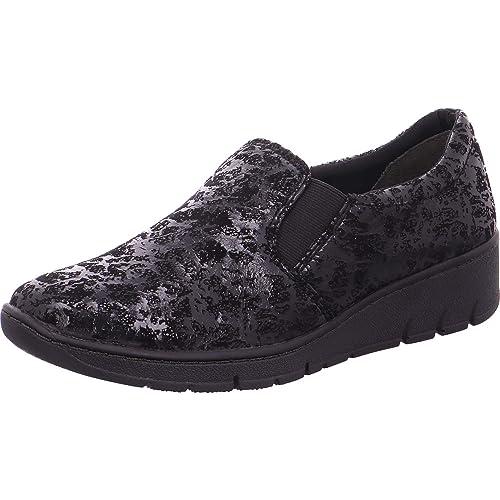 Jana 24701 Angus Moderno Ancho Fit Mocasines De Tela En Negro Moteado 39 Black SPECKL: Amazon.es: Zapatos y complementos