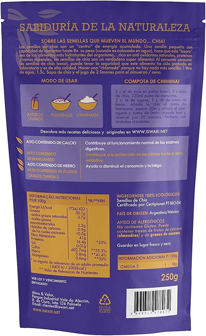 Semillas Chia: Amazon.es: Alimentación y bebidas