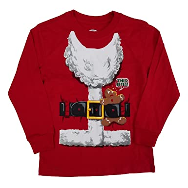 6c485a74 Amazon.com: Holiday Time Boys Graphic Christmas Long Sleeve Tshirts  Assorted Styles With Santa, Trex and Naughty List: Clothing