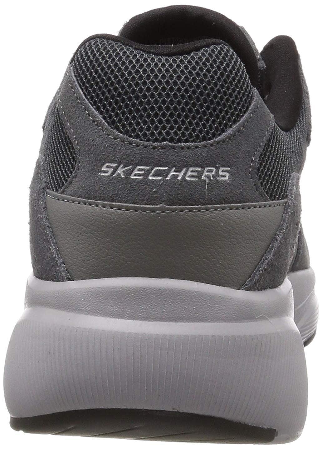 Skechers Herren Meridian-Ostwall Sneaker, braun, 39 EU Grau (Charcoal Grey Ccgy)