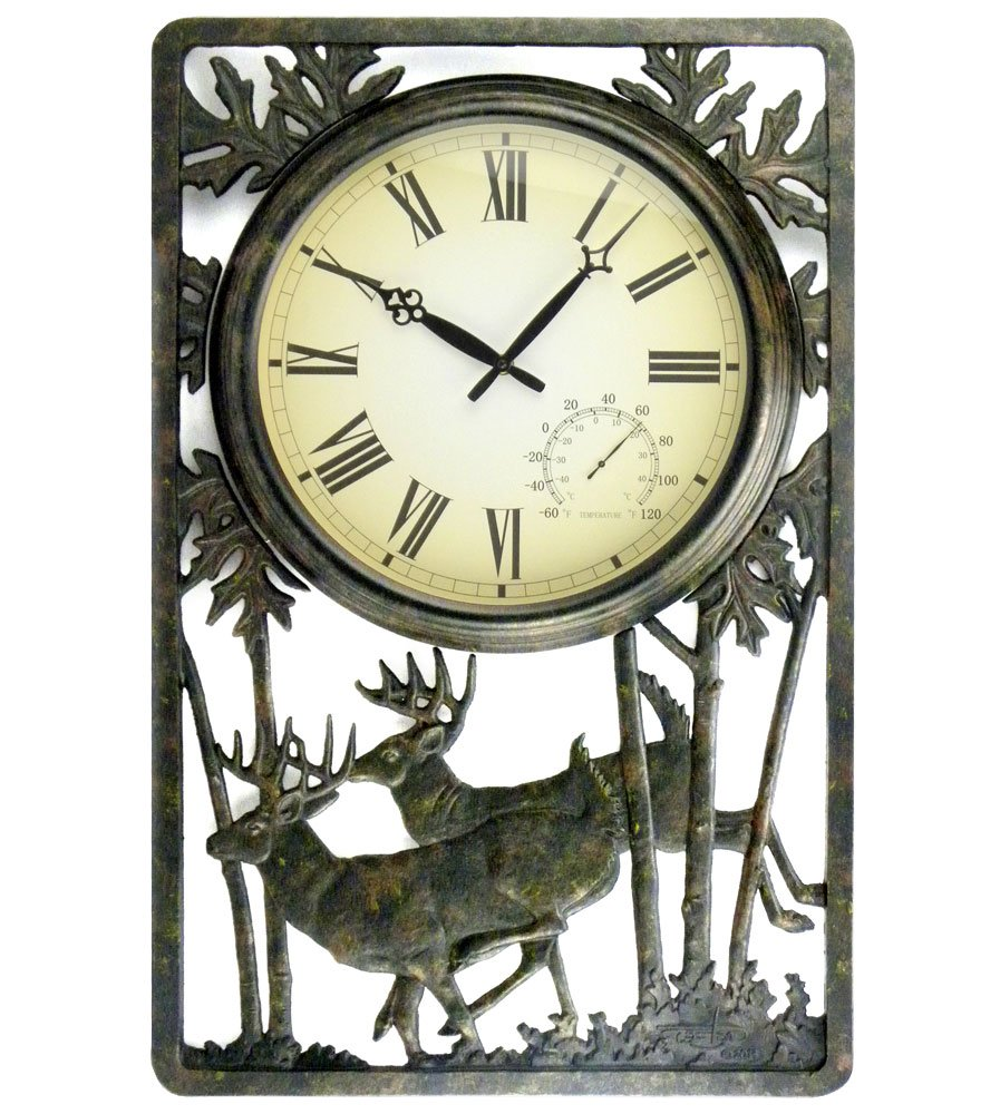 Deer Outdoor Clock