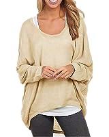 ZANZEA Women's Sexy Long Batwing Sleeve Loose Pullover Casual Top Blouse T-Shirt