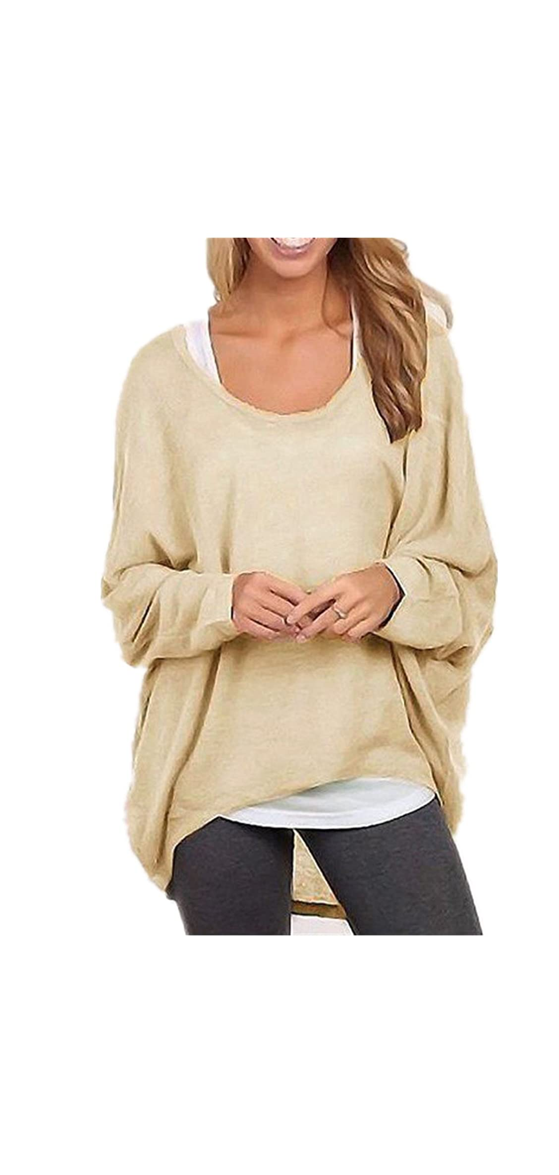Women's Batwing Sleeve Off Shoulder Loose Oversized Baggy