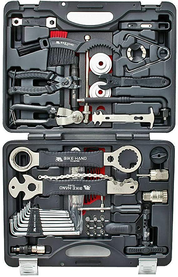 Shipenophy Exquisite Workmanship Bicycle Repair Tool Kit Crank Extractor Puller Maintenance Set Durable wear-Resistant for Trail Riding