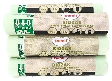 Bolsa Dumil para basura orgánica, verde, 20 Liter 72 Stück