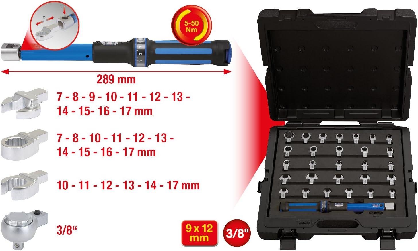 5-50Nm 29-tlg KS Tools 516.1720 9x12mm Drehmoment-Werkzeug-Satz