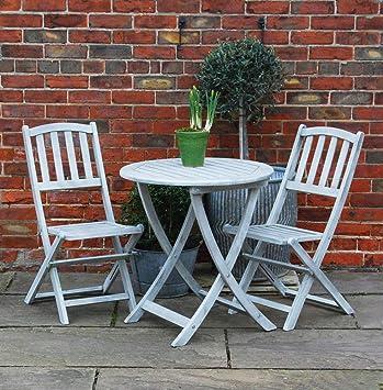 Bluebell Yard Runswick Juego de Mesa y Dos sillas Plegables ...