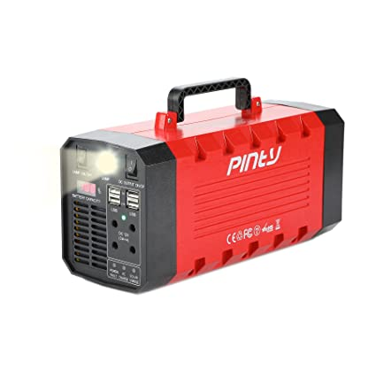 Pinty Portable Uninterrupted Power Supply 500W, UPS Battery Backup,  Rechargeable Generator Power Source with AC Inverter, USB, DC 12V Outputs  for