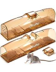 Ohuhu Double Porte Vivante piège à Souris sans cruauté, 2 Paquet Piège à Rats de pour Attraper Les Souris, Les Rats