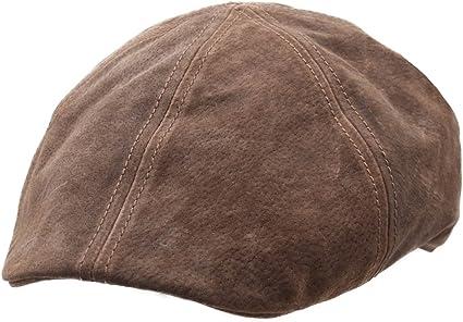 Stetson - Boinas - gorra plana cuero hombre Texas Pig Skin - talla ...