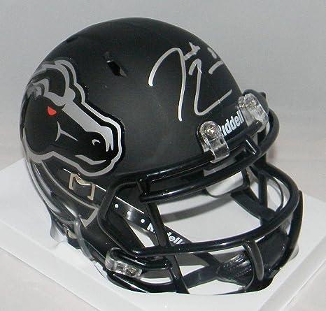 7da47051f Amazon.com  Demarcus Lawrence Signed Autographed Boise State Broncos Black  Mini Helmet - JSA Certified - Autographed College Mini Helmets  Sports ...