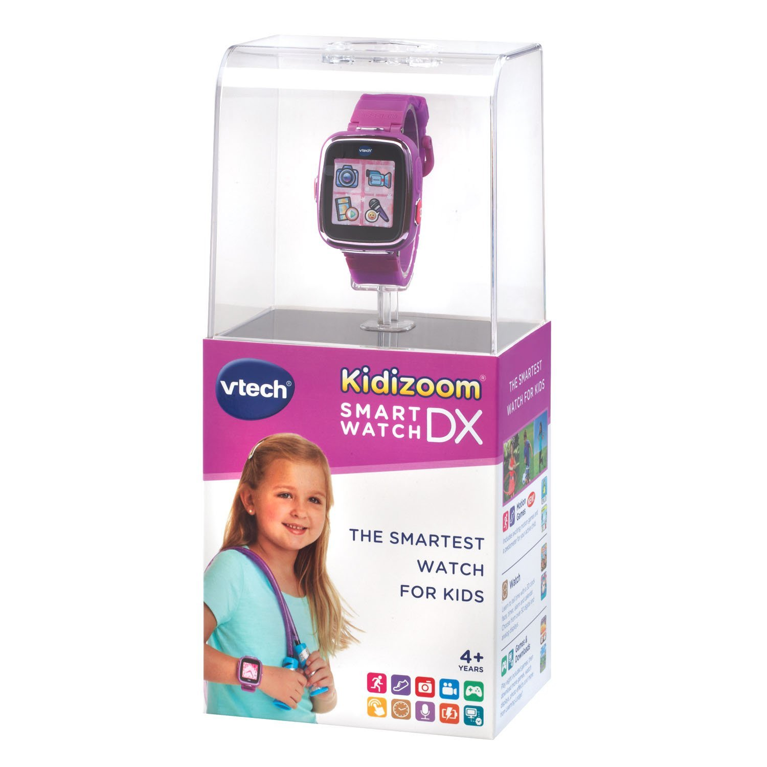 Amazon.com: VTech Kidizoom Smartwatch DX - Purple (Renewed ...