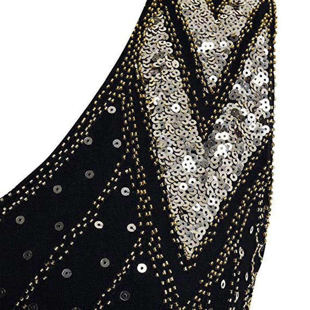 ALIKEEY Mujeres Vintage De Los A/ños 20 Grano Fringe Lentejuelas Embellecido Fiesta Vestido De Gatsby Blazer Blanco Charleston Cocktail Tama/ño Grande Ete Fete