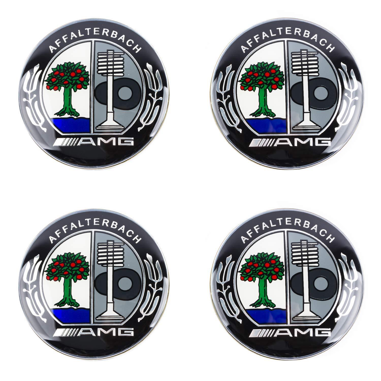 AUTOTUO 4pz 75MM Coprimozzo Coprimozzi Auto Tappi Centrali per Ruote per Class A B C E CL CLA CLS SLK ML GLK W204 W212 W210 W221 W220