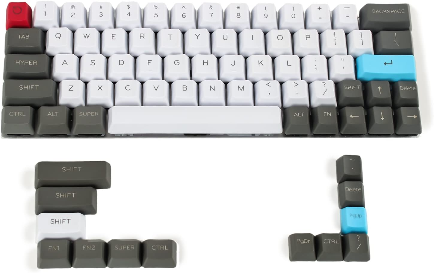 YMDK Customized 61 64 68 ANSI Keyset OEM Profile Thick PBT Keycap Set for Cherry MX Mechanical Keyboard GH60 XD64 GK64 Tada68 (Only Keycap)