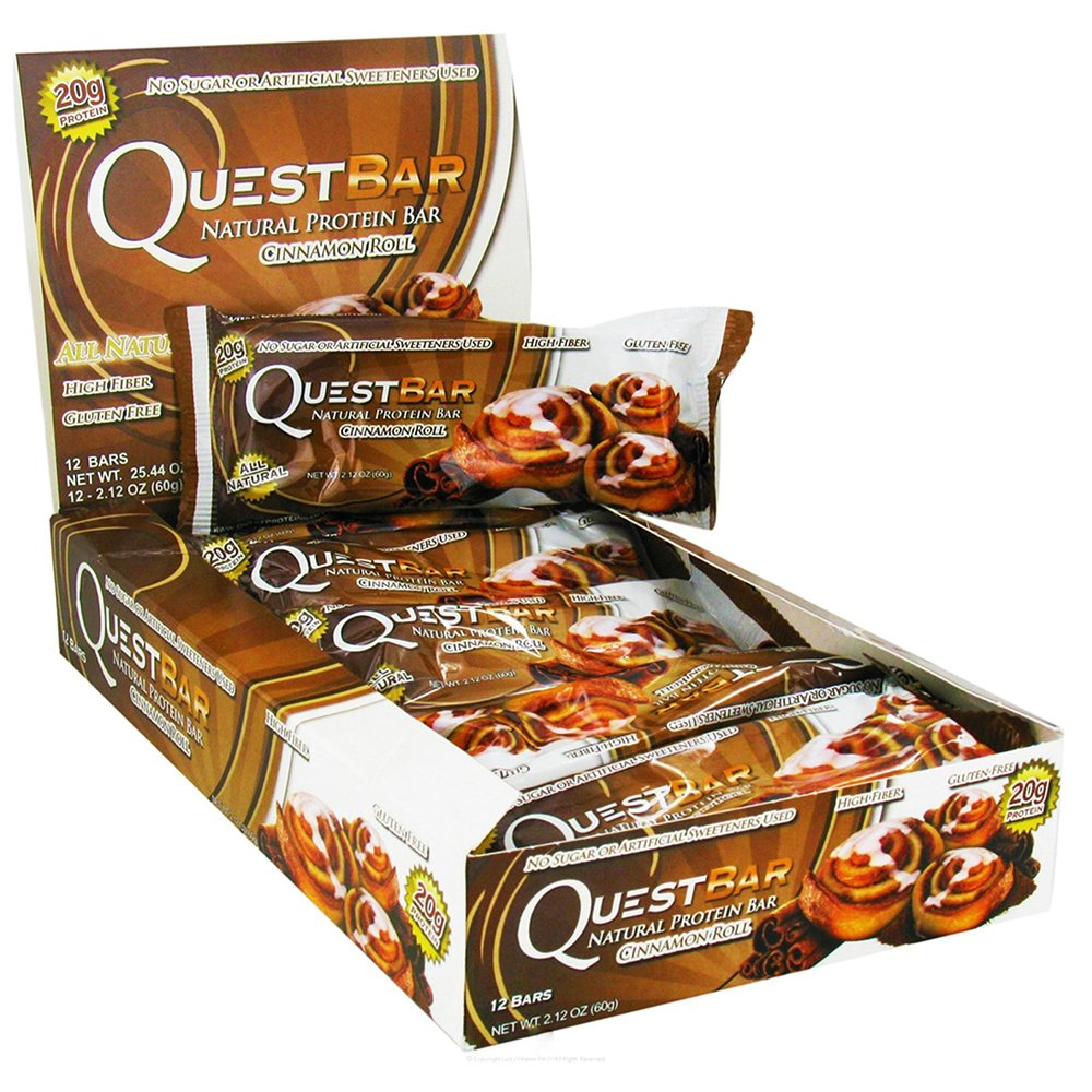Quest Bars-Cinnamon Roll 48 Bars