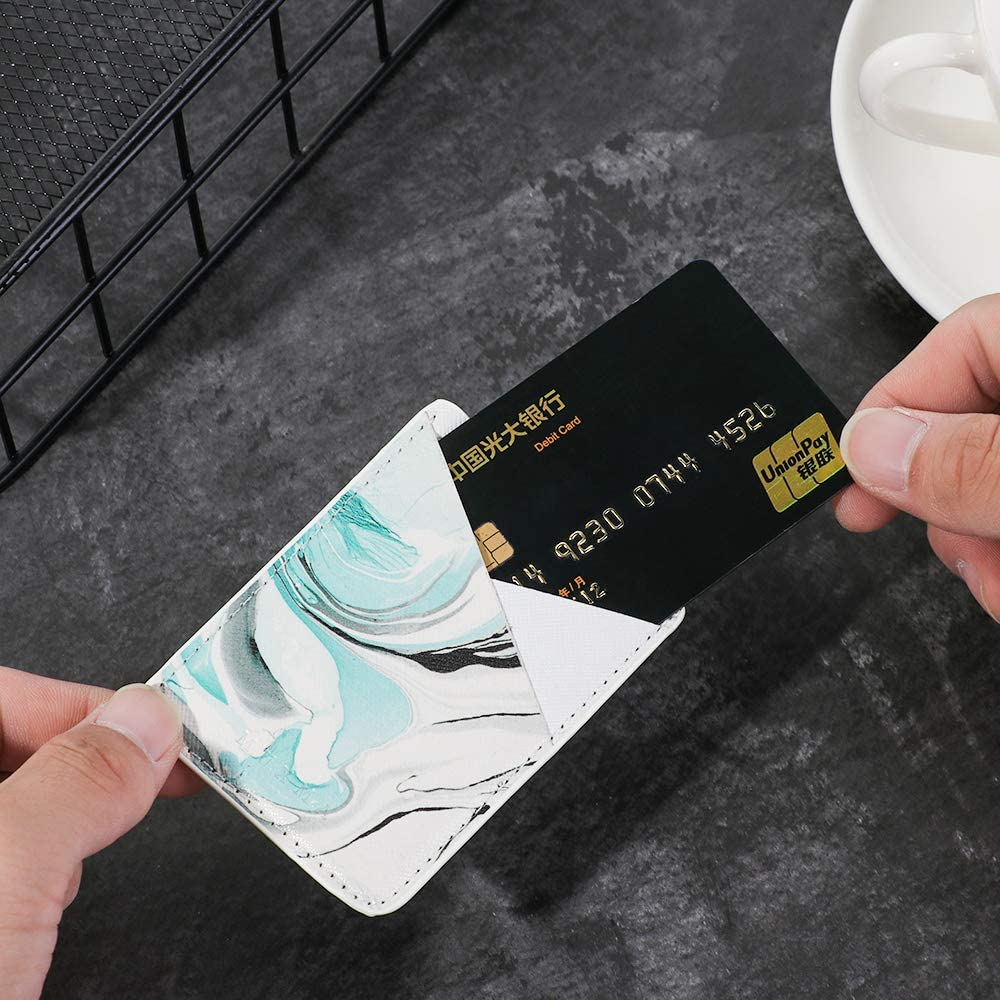 Kreditkarten Brieftasche Handy-Kartenhalter aus PU-Leder zum Aufkleben von Ausweis kompatibel mit den meisten Smartphones