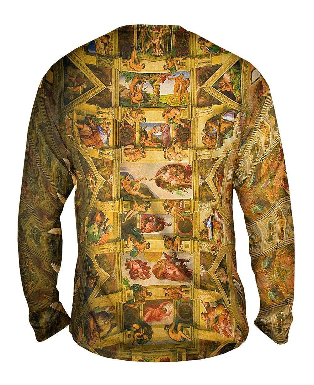 Yizzam Mens Long Sleeve TShirt Sistine Chapel 2 Michelangelo