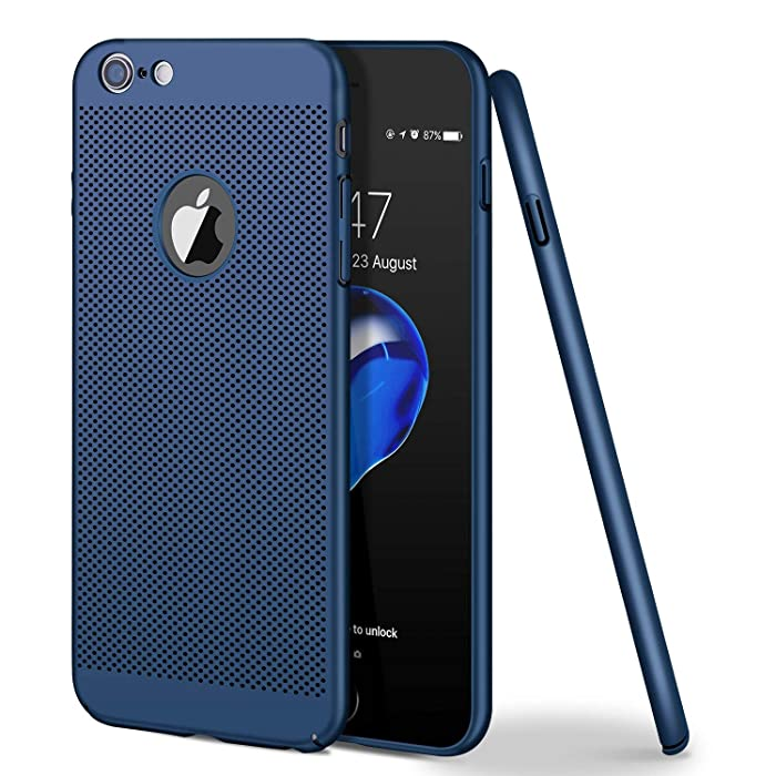 iPhone 6 Case/iPhone 6S Case, Ultra Slim/Thin Lightweight Breathable Cooling Mesh Case,Compatible with iPhone 6/iPhone 6S (Blue)