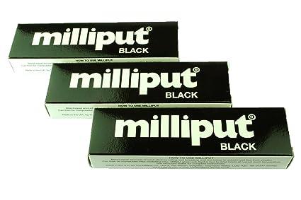 3 x unidades Milliput negro Masilla epoxi. De modelaje, Escultura, Ceramics, Slate