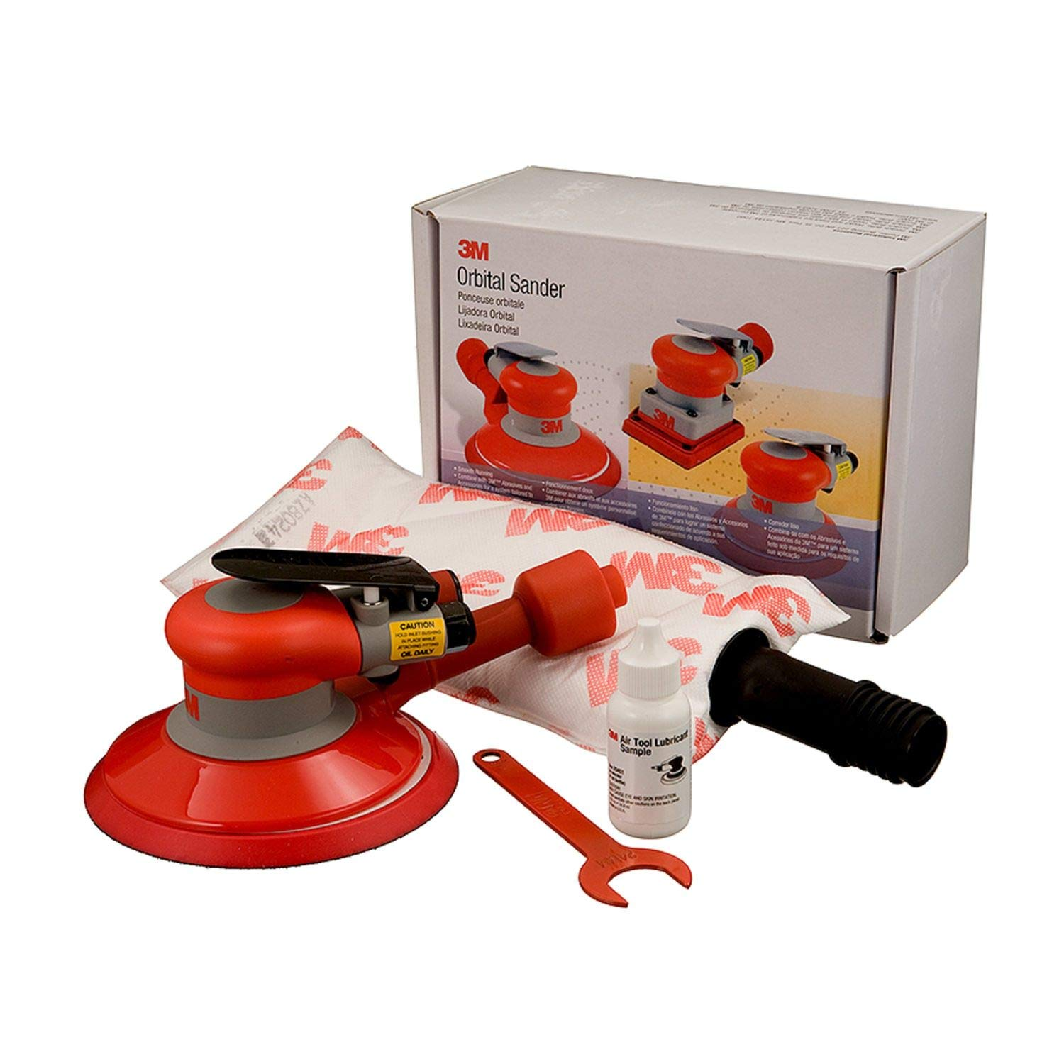 3M Self-Generated Vacuum Random Orbital Sander 20208, 6 in, 5/16 in Orbit, 1 per case